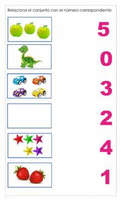 Interactive worksheet Numeros del 0 al 5