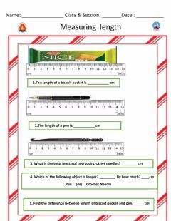 Interactive worksheet Measuring Length