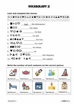 Interactive worksheet ENGLISH 4 - U4. Vocabulary 1.2