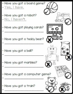 Interactive worksheet 3.5. Toys & Games - Have You Got Toys?