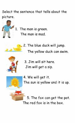 Ficha interactiva Short vowel reading Comprehension