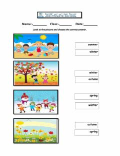 Interactive worksheet Choose the correct season