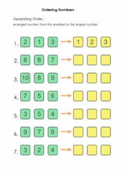 Interactive worksheet Ordering Number (ascending)
