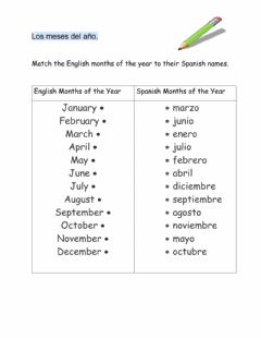 Interactive worksheet Spanish Months of the Year
