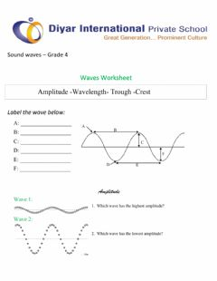 Interactive worksheet Sound wave