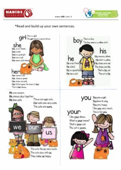 Interactive worksheet Build up sentences as in the example