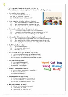 Interactive worksheet English GRammar