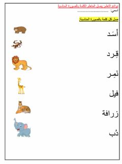 Interactive worksheet The Animals