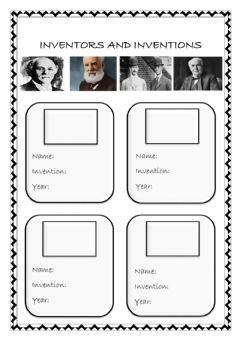 Interactive worksheet Inventors and inventions