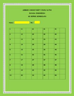 Interactive worksheet Lembar jawab paket 5 bindo ultra