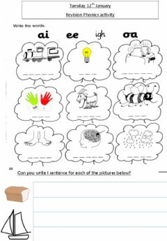 Interactive worksheet Ai,ee,igh,oa revision