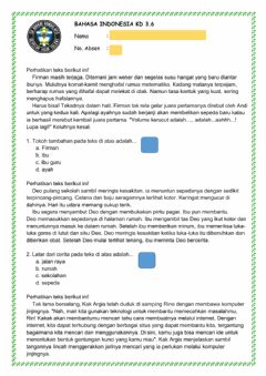 Interactive worksheet Cerita fiksi