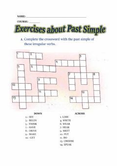 Interactive worksheet Past simple exercises
