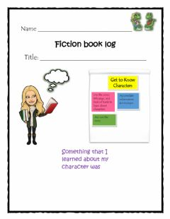 Ficha interactiva Getting to Know Characters Log 3
