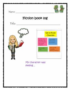 Ficha interactiva Getting to Know Characters Log 4