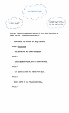 Interactive worksheet Adverbs of time - Practice