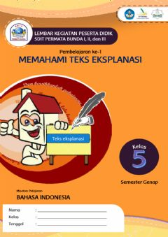 Interactive worksheet Teks Eksplanasi