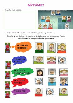 Interactive worksheet Family