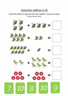Interactive worksheet Addition to 10