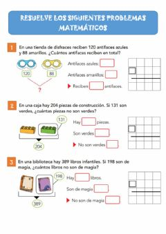 Interactive worksheet Problemas matemáticos