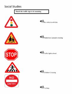 Interactive worksheet Traffic Signs In Trinidad and Tobago