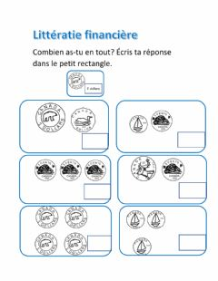 Interactive worksheet Combien as-tu en tout?