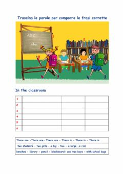 Interactive worksheet there is-are in classe semplificato