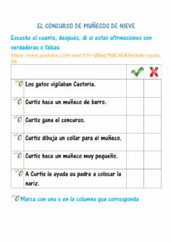 Interactive worksheet Comprensión del cuento