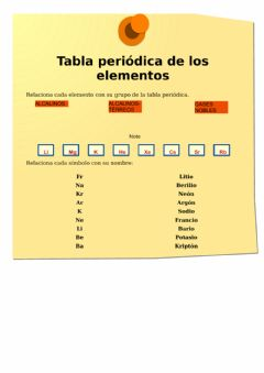 Interactive worksheet Elementos
