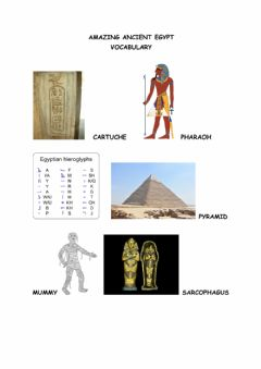 Interactive worksheet Ancient Egypt vocabulary