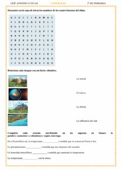 Interactive worksheet Factores del clima