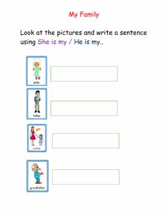 Interactive worksheet Using He is She is
