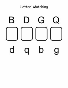 Interactive worksheet Letter Matching