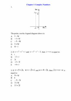 Interactive worksheet Chapter 1 Complex Numbers