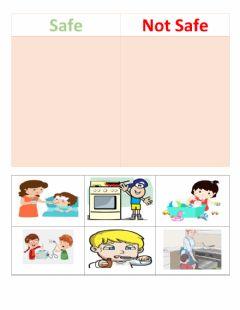 Interactive worksheet Safety in home