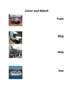 Interactive worksheet Means of transportation