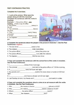Interactive worksheet Past continuous practice