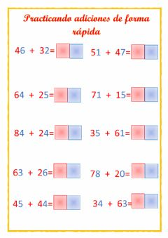Interactive worksheet Sumas rápida