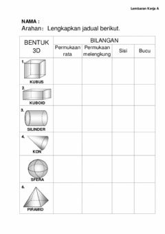 Interactive worksheet Matematik bentuk