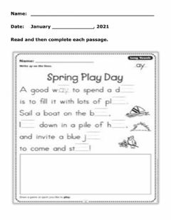 Interactive worksheet Ay Story worksheet