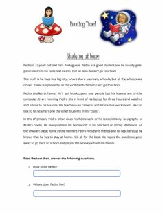 Interactive worksheet Reading: Studying at home