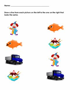 Interactive worksheet Picture to Picture Matching (Same)
