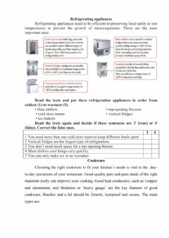 Interactive worksheet Cookware