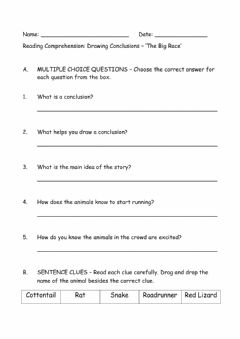 Interactive worksheet Drawing Conclusions