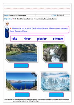 Interactive worksheet Sources of Freshwater