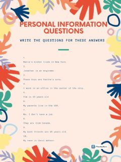 Interactive worksheet Questions present simple