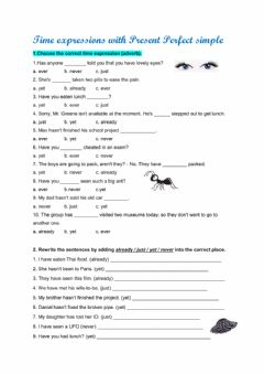 Interactive worksheet Time expressions with Present Perfect