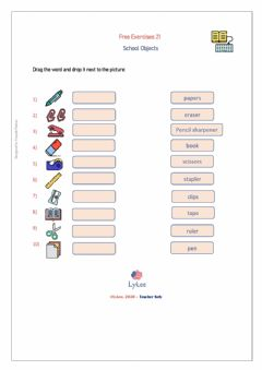 Interactive worksheet FREE21-SchoolObjects