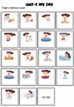 Interactive worksheet My Day Worksheets