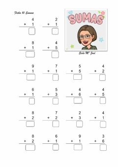 Interactive worksheet Sumas de una cifra